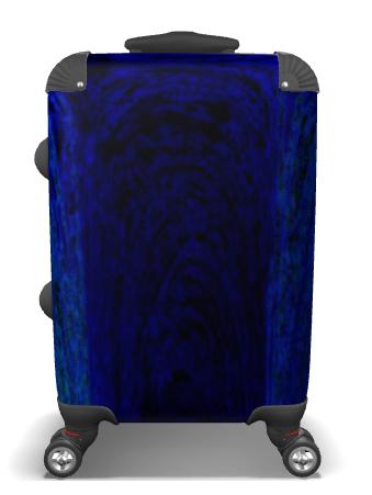 Blue Archways Suitcase
