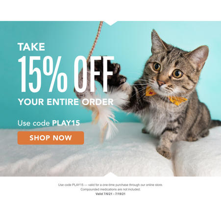 Great news! Use code PLAY15 for a discount in our online store. Valid 7/6/21 - 7/19/21