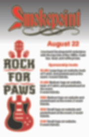 Rock for Paws sponsorship opportunities.