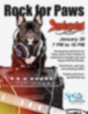 Flyer Rock for Paws 2021 quarter letter