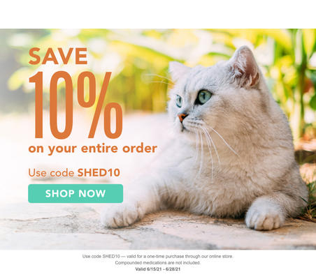 Use code SHED10 for a 10% discount on your entire order. Valid 6/15 to 6/28.