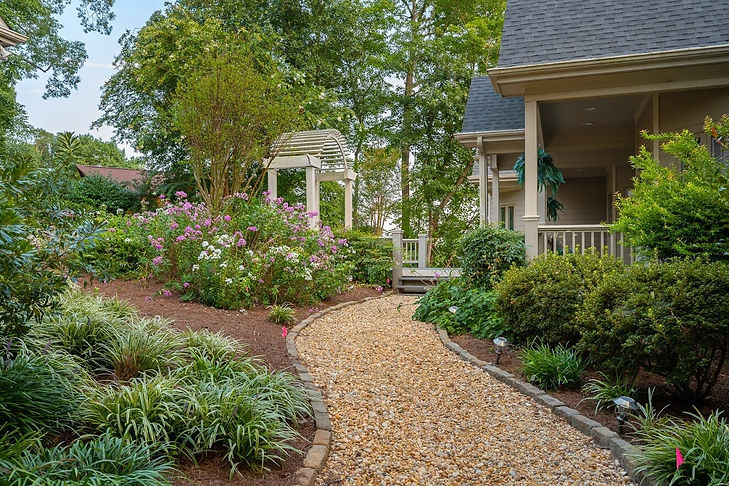 Gravel Walkway by New Leaf Landscapers Richmond VA