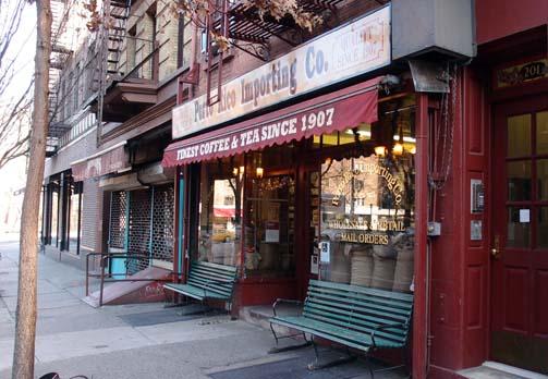 뉴욕의 마케팅-오래된 커피가게