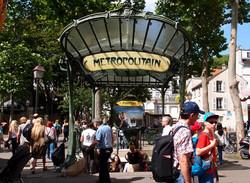 파리의 아르누보 지하철 입구