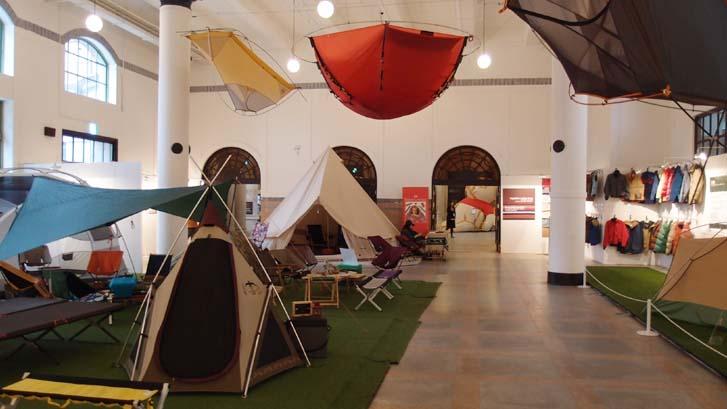 텐트 전시