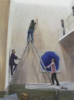 박진아-사다리 01-2010-델코 스튜디오 프로그램 참여중 그린 그림중
