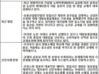 [지식정보] 대형마트와 기업형 슈퍼마켓의 해외규제 사례