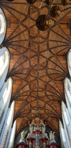 할렘 그로테 케르크 교회 천정