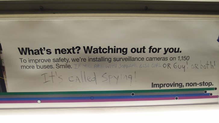 뉴욕 버스광고의 낙서