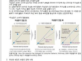 [지식정보]  低成長시대의 개성적 가치소비와 세컨드 브랜드 전략