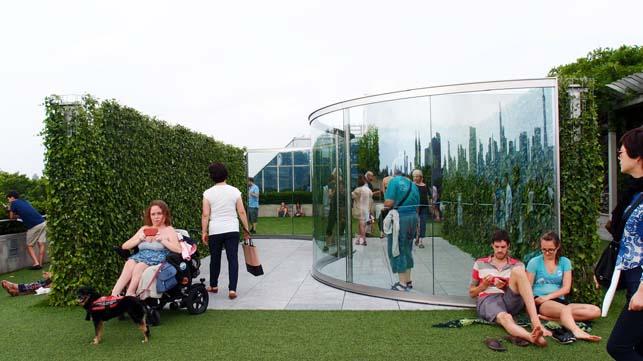 뉴욕 메트로폴리탄 미술관의 옥상정원과 댄 그래햄