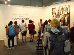 샘소나이트 여행가방과 예술가가 만나다.