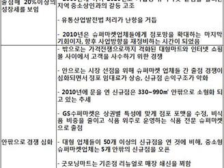 [지식정보] 슈퍼마켓 2011년 정리