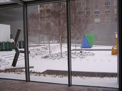 눈이 오는 미술관