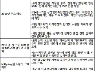 [지식정보] 슈퍼마켓 현황/전망 (2010/2011년)