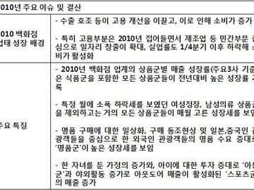 [지식정보] 백화점 2011년 정리