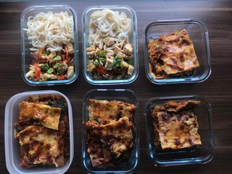 Vegetarisk lasagne med keso och spenat
