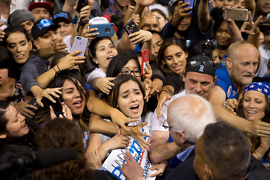 Bernie's Young Supporters Never Let Him Grow Up into a Real Presidential Contender