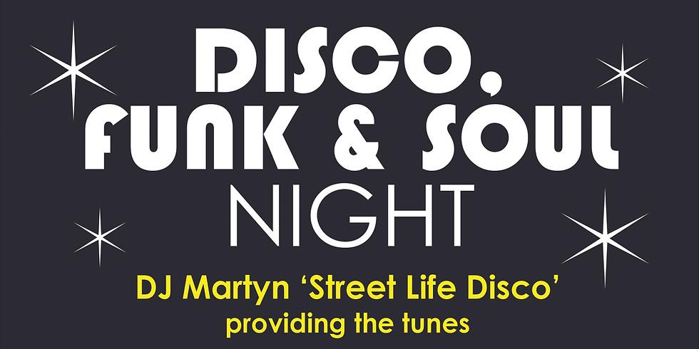 Disco, Funk & Soul  Night
