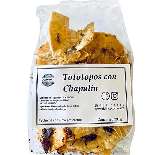 Totopos de chapulín 100g