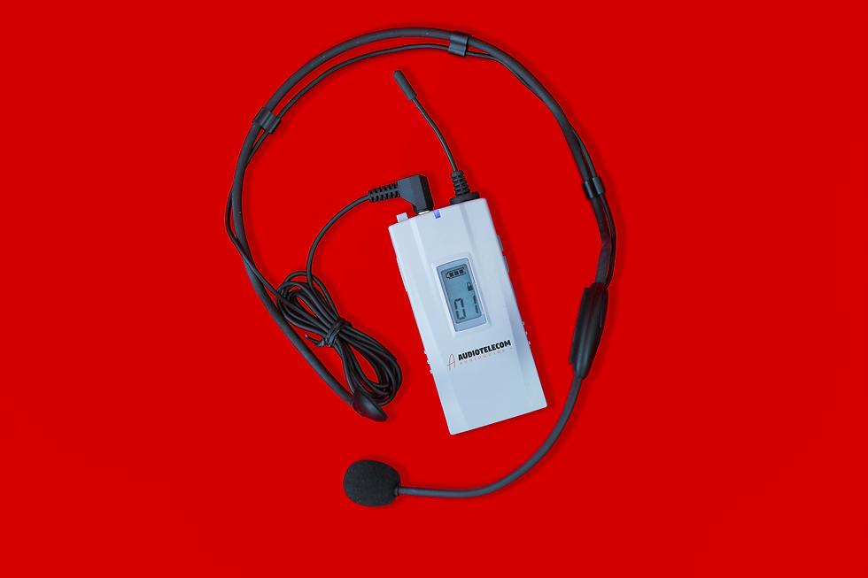 Émetteur avec micro casque audiotelecom
