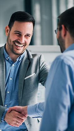 Two men meeting