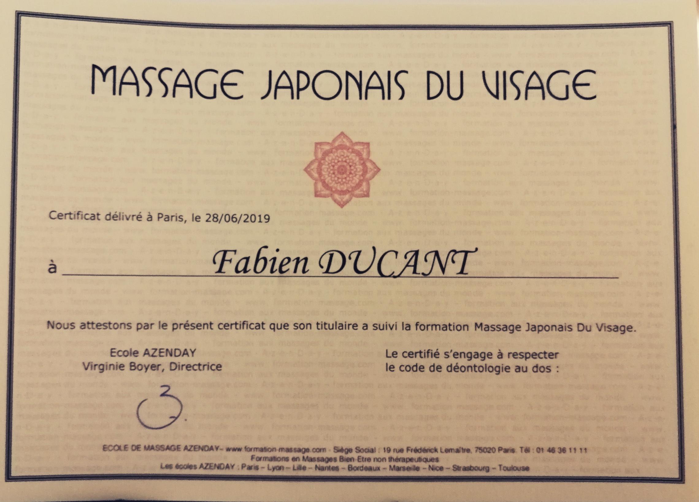 Massage Japonais Visage Valenciennes