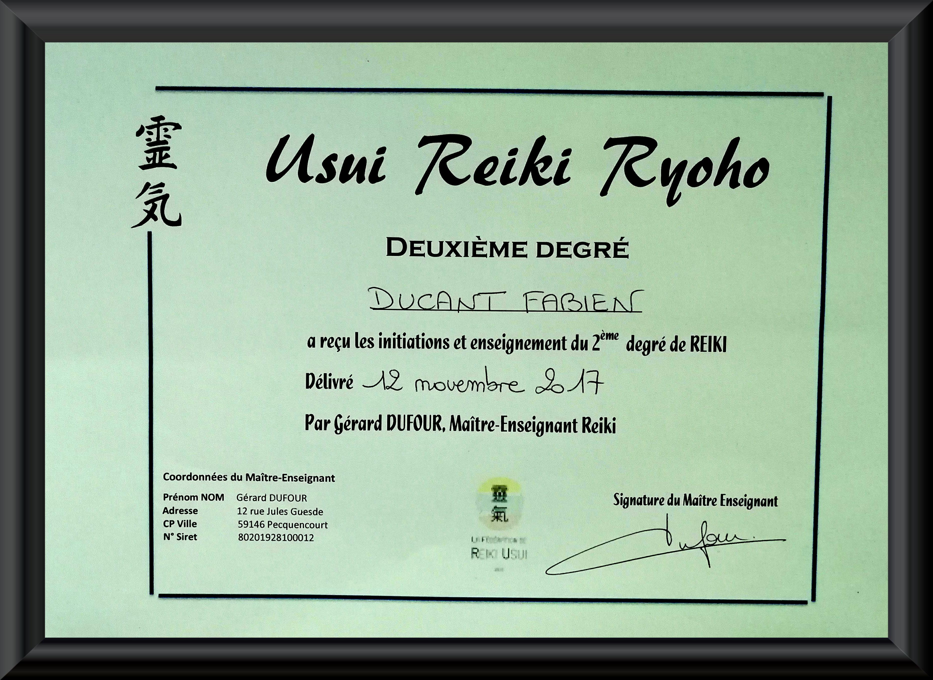 Reiki 2e degré