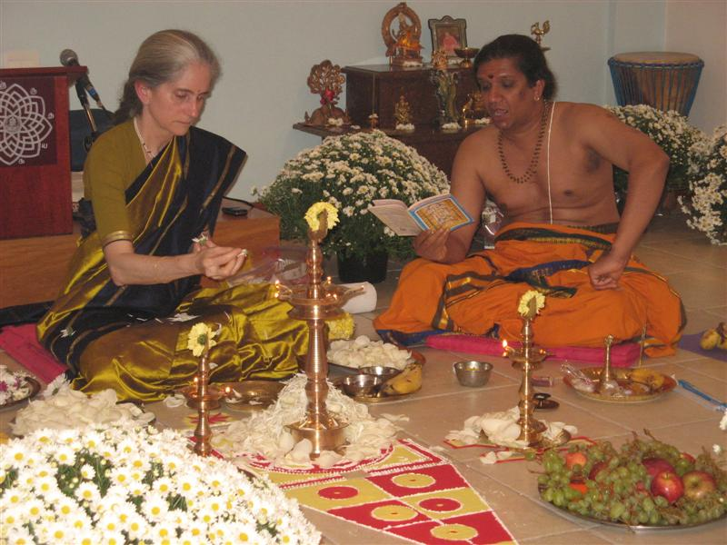 Puja com Ravi
