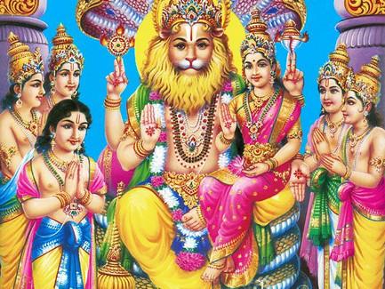 Narasimha, metade leão, metade humano