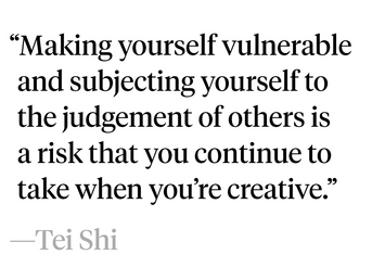 Being vulnerable.
