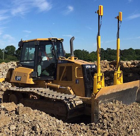 Excavator with Dustpan Bucket