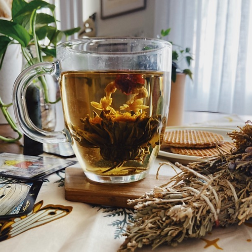 SUNKISSED PEACH BLOOMING TEA by The Flower Pot Tea Company