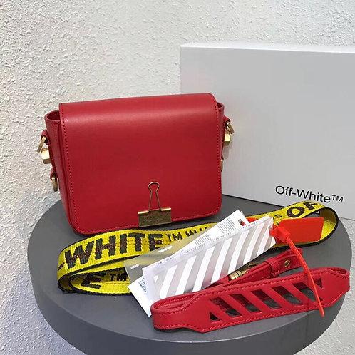 OFFWHITE BINDER CLIP BAG