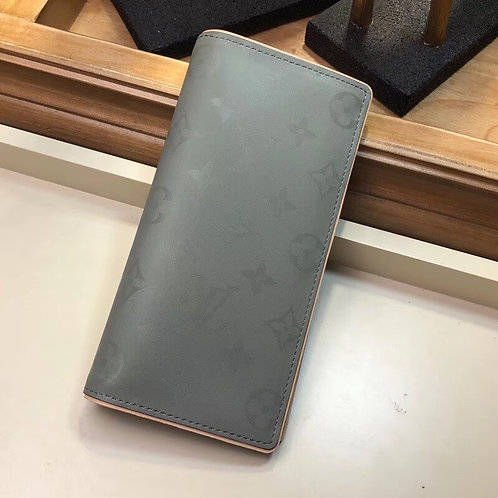 LV TITANIUM MONOGRAM LONG BIFOLD WALLET
