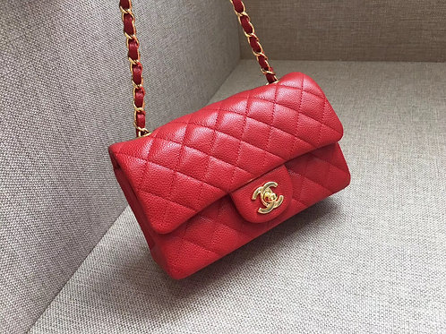 CHANEL 20 CM in RED GHW