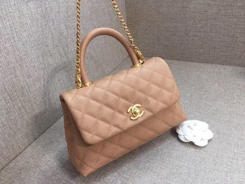 409ab142b693 CHANEL CLASSIC COCO HANDLE GHW 23 cm ! . KEEP IN MIND WHAT YOU SEE IS WHAT  YOU GET 💞 with 100% GENUINE LEATHER , 99% SIMILARITY 🤤🤤 .