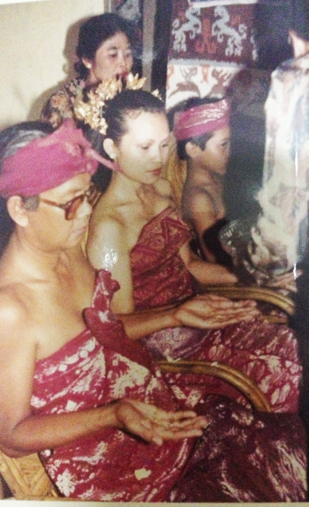 Sukanta's wife Endah as a professional dancer (above) With Sukanta at their wedding (below)