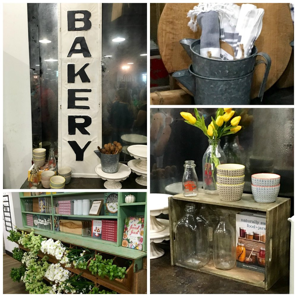 There were lots of kitchen goodies to feast your eyes on. In particular, I loved the pottery, cake stands and the beautiful books!