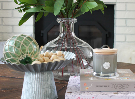 Styling My Round Coffee Table