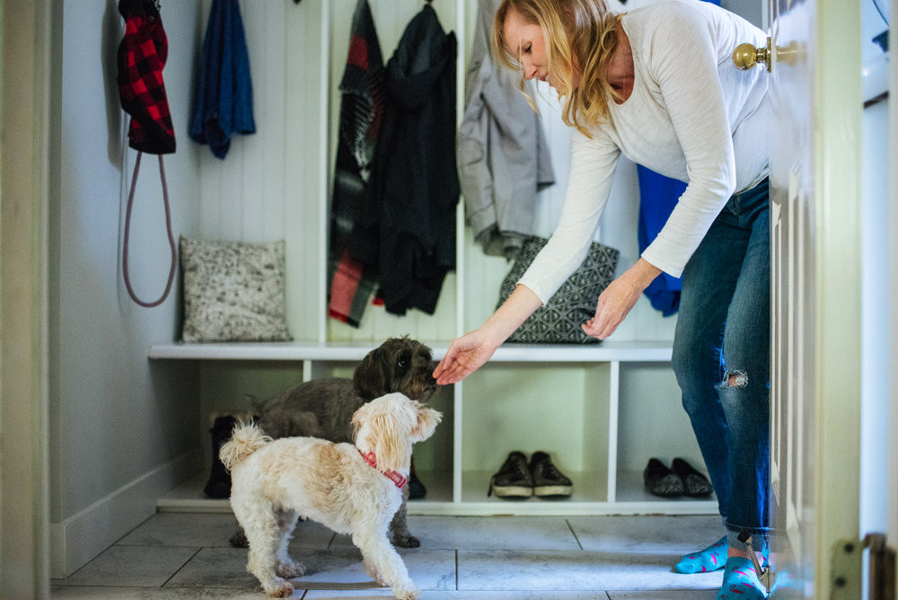 Our mudroom sees a lot of action! (Felicia Chang Photography)