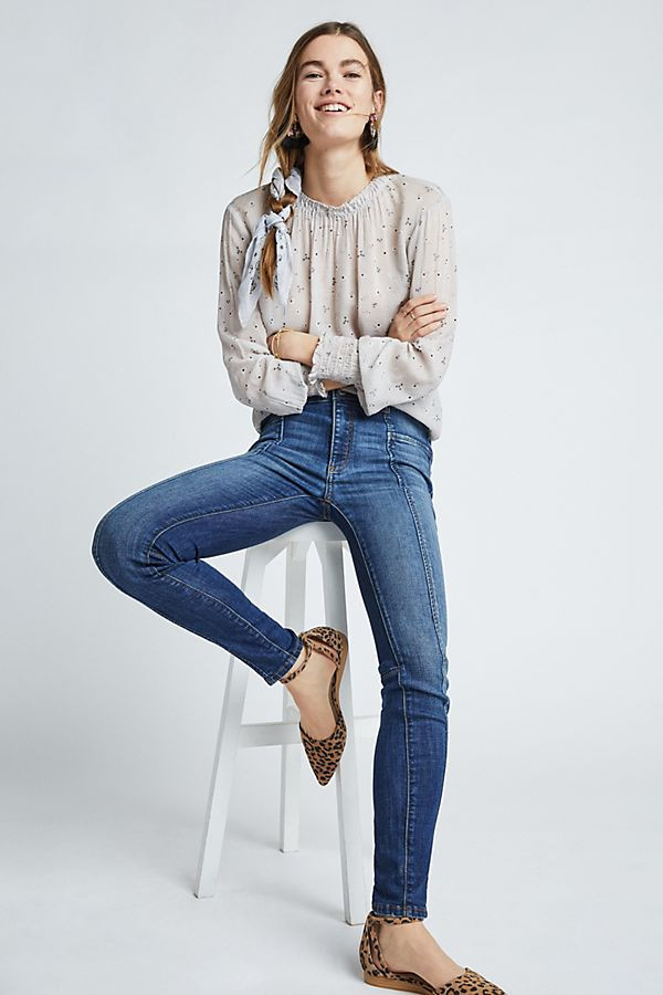 Slide View: 1: Pilcro High-Rise Denim Leggings