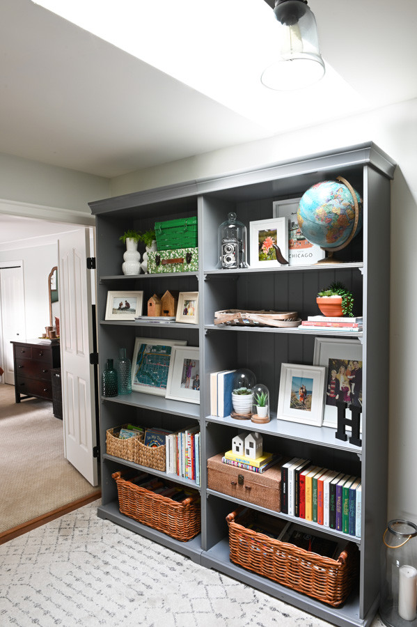Bookcases on the upstairs landing
