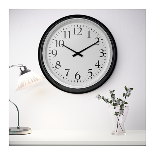 BRAVUR Wall clock IKEA Highly accurate at keeping time as it is fitted with a quartz movement.