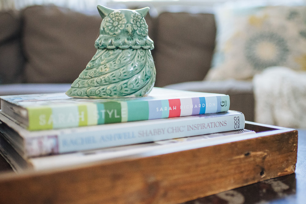 A few of my favorite decorating books on display! (Felicia Chang Photography)