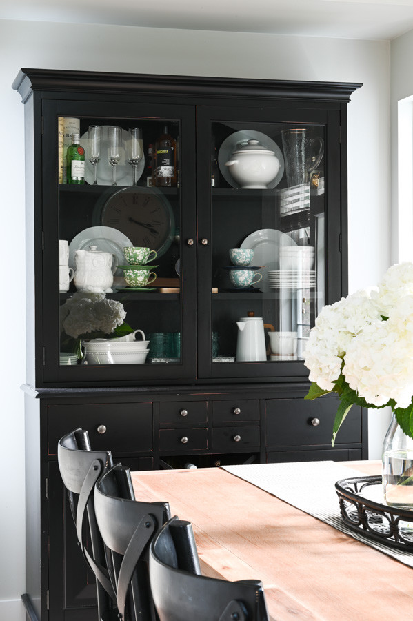 Black buffet and hutch