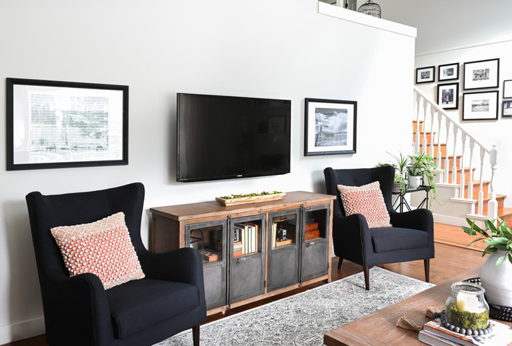 Wall Mounted TV in the Living Room