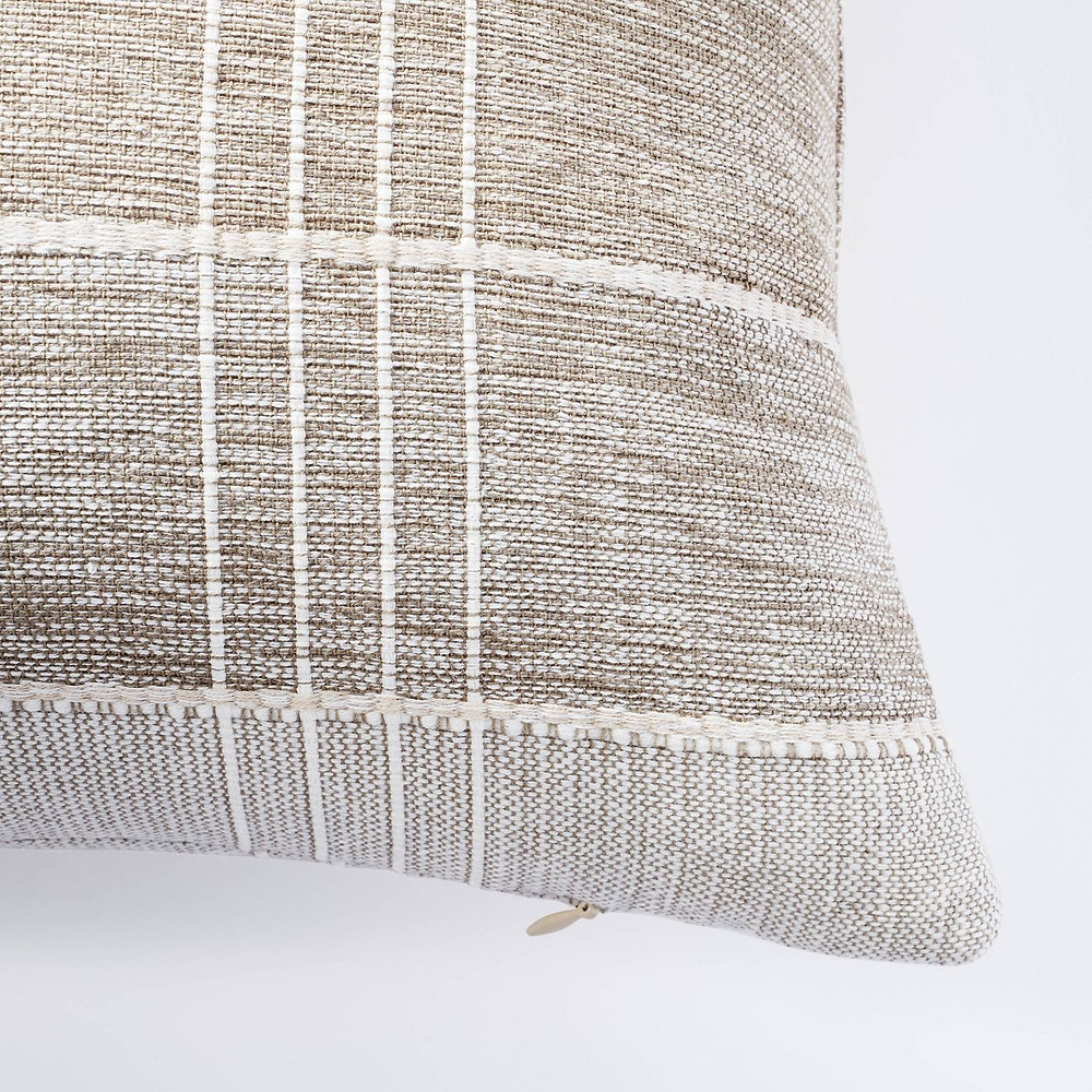 Lumbar Two Tone Textured Pillow Green - Threshold™ designed with Studio McGee - image 2 of 7