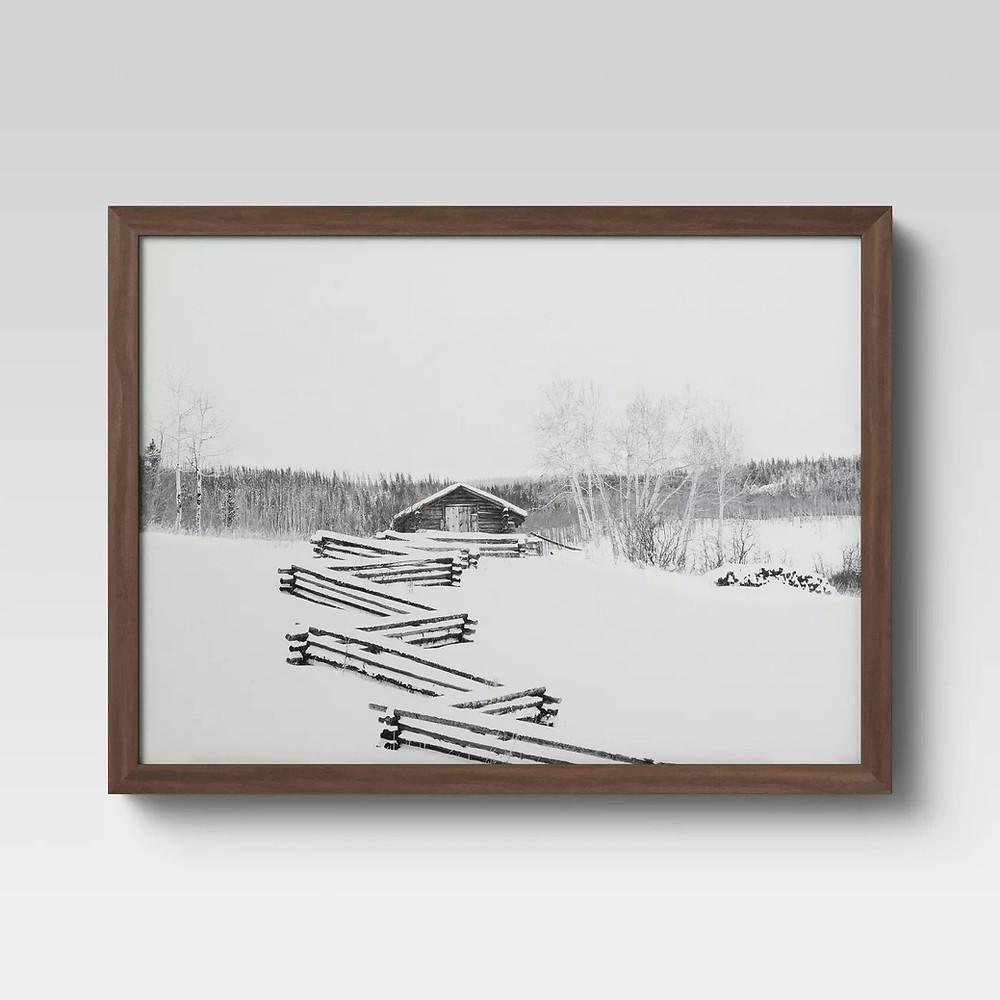 "16"" x 12"" Cabin Framed Print - Threshold™ - image 1 of 4"
