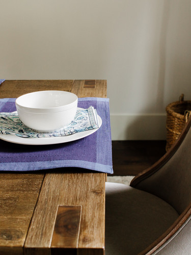 Rustic Table with Upholstered Chairs